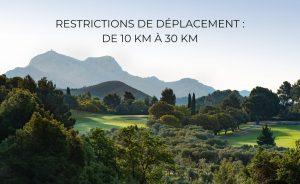 Bonne nouvelle ! La limite kilométrique de déplacement passe de 10 à 30 km pour les golfeurs ! - Open Golf Club