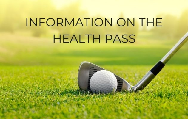Implementation of the health pass in all of our golf club